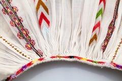 Blusa tradicional rumana - texturas y adornos Foto de archivo libre de regalías