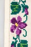 Blusa tradicional rumana - texturas y adornos tradicionales Fotos de archivo libres de regalías