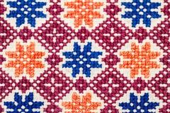 Blusa tradicional rumana - texturas y adornos tradicionales Imagenes de archivo