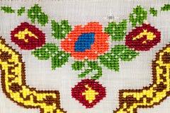 Blusa tradicional rumana - texturas y adornos tradicionales Fotos de archivo