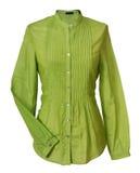 Blusa verde Imágenes de archivo libres de regalías