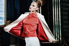 Blusa vermelha Fotos de Stock