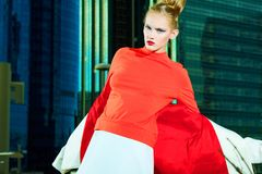 Blusa vermelha Imagens de Stock