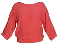 Blusa vermelha da mulher Foto de Stock