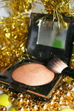 Blush. Bronze blush with a brush Stock Images