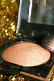 Blush. Bronze blush with a brush royalty free stock photography