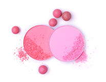 Blush balls and powder Royalty Free Stock Image