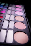 Blush and eye shadow. Royalty Free Stock Images
