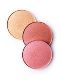 Blush or face powder. Isolated on white background stock photos