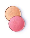 Blush or face powder. Isolated on white background royalty free stock photo