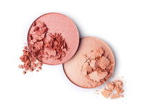 Blush or face powder. On white royalty free stock images