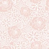 Blush Floral Spring Tea Party Seamless Pattern vector illustration