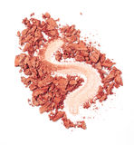 Blush isolated. Red blush isolated over white background Stock Photo