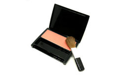 Blush on make up accessories on white background.  stock photo