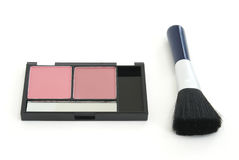 Blush Makeup with Brush Royalty Free Stock Image