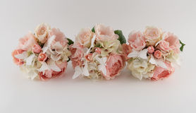 Blush Pink Bridesmaid Bouquets stock images