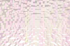 Blush pink squares cubes buildings Royalty Free Stock Photos