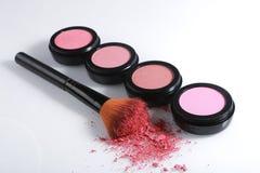 Blush Sets on White Background. Pink Blush Sets on White Background Royalty Free Stock Photography