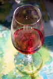 Blush wine. Rosé wine in INAO glass Stock Photo