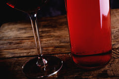 Blush wine Royalty Free Stock Image