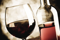 Blush wine Stock Image