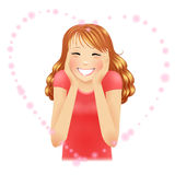 Blushed girl royalty free stock images