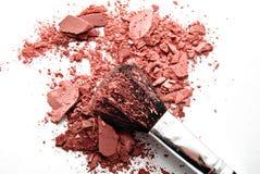 Blusher,. Blush brush isolated on white background Royalty Free Stock Images