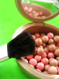 Blusher and brush Royalty Free Stock Photography