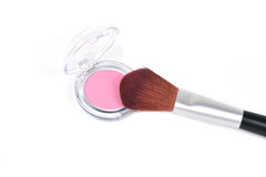 Blusher and brush Stock Image
