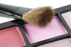 Blusher and brush Stock Photography