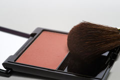 Blusher in a cosmetics compact Royalty Free Stock Photos
