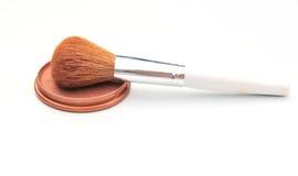Blusher e spazzola Fotografia Stock