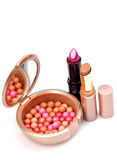 Blusher and lipsticks Royalty Free Stock Photography