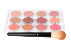 Blusher palette with a brush Royalty Free Stock Photography