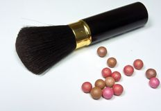 Blusher vith pearls Stock Photos