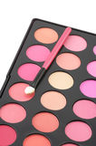 Blushes palette and applicator Stock Photo