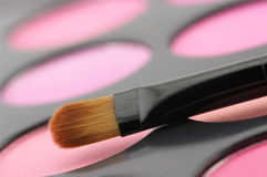 Blushes palette and brush Royalty Free Stock Photos