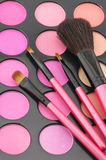 Blushes palette and brushes Royalty Free Stock Photos