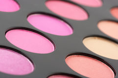 Blushes palette close-up Royalty Free Stock Photos