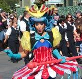 A blushing street performer at Disneyworld Stock Photo