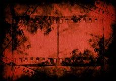 Blut auf Schmutzpapierhintergrund Stockfotografie