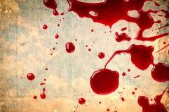 Blut auf Weinlesepapier Stockfotografie