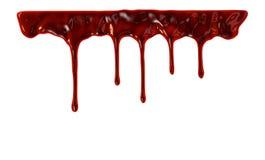 Blut, das unten tropft lizenzfreie abbildung