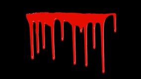 Blut, das unten tropft Lizenzfreie Stockfotografie