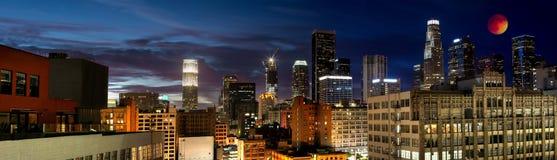 Blut-Mond-Eklipse im LA Stockbilder