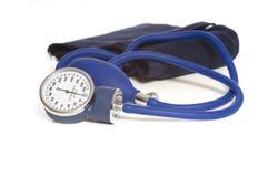Blut Preasure Überwachungsgerät auf Weiß Stockbild