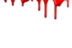 Blut sickert durch Stockbild