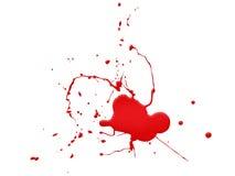 Blut splat auf weißem Hintergrund Stockfoto