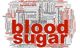 Blut Sugar Word Cloud Stockfotos
