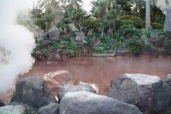 Blut-Teich-Hölle in Beppu, Japan Lizenzfreies Stockfoto
